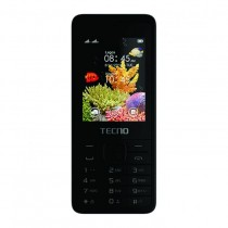 Tecno T401 Three Sim Cards (Wireless FM Radio,Internet, Memory Card Space) - Black